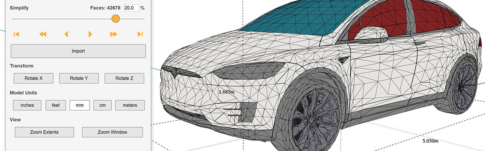 Import i kompresja modeli 3D | Skimp dla SketchUp