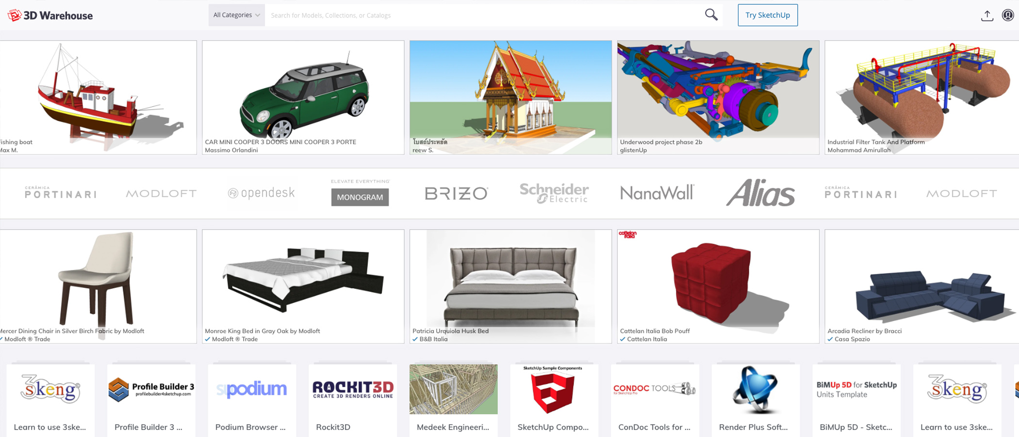 3D Warehouse   Biblioteka modeli 3D   SketchUp